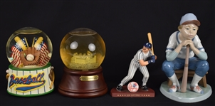 Don Mattingly & Sno Globe Porcelain Figurines