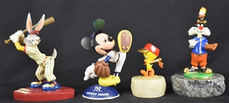 Looney Tunes Collection of 4 Porcelain Figurines