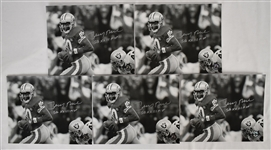 Jerry Rice Lot of 5 Autographed 8x10 Photos