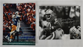 Jerry Rice & Don Maynard Autographed 8x10 Photos