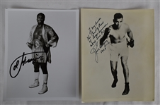 Jack Dempsey & Joe Frazier Autographed Photos