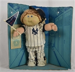 New York Yankee Cabbage Patch doll w/ Cap & Flag