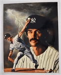 Ron Guidry 16x20 Lithograph by Robert Stephen Simon