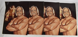 Hulk Hogan 18x24 Lot of 4 Lithographs by Robert Stephen Simon