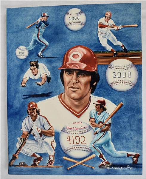 Pete Rose 18x24 Lithograph by Robert Stephen Simon