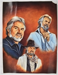 Dolly Parton & Kenny Rogers 18x24 Lot of 2 Lithographs by Robert Stephen Simon