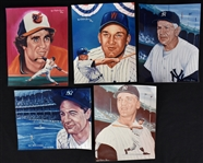 Collection of 5 Lithographs by Robert Stephen Simon w/Lou Gehrig
