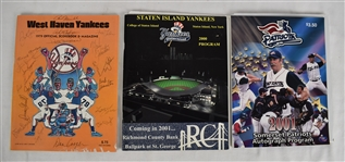 New York Yankee Minor League Autographed Programs w/1979 West Haven Yankees