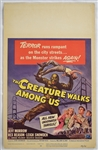 "Vintage 1956 ""The Creature Walks Among Us"" Movie Poster"