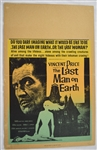 "Vintage 1964 ""The Last Man on Earth"" Movie Poster"