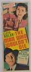 "Vintage 1942 ""The Man Who Wouldnt Die"" Movie Poster"