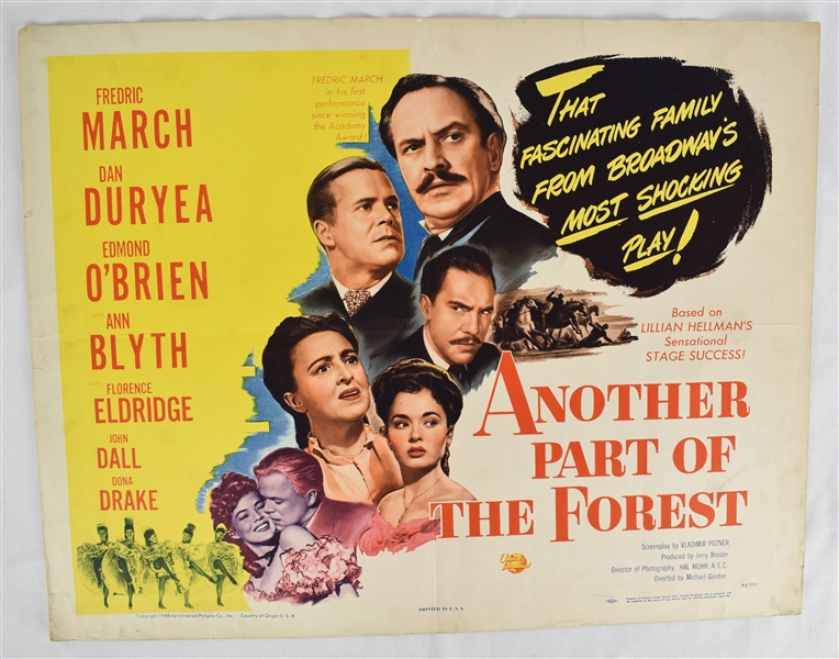 Vintage 1948 Another Part of the Forest Movie Poster