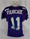 John Fourcade Milwaukee Mustangs Arena Football Game Used Jersey w/Program