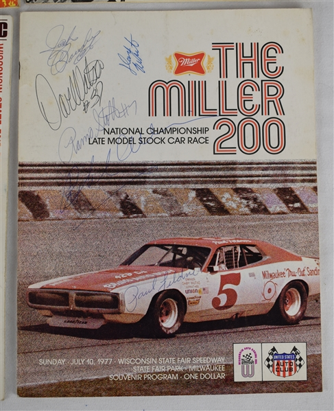 Auto Racing Signed Programs