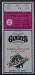SF Giants vs. Oakland As 1989 World Series Game 3 Ticket *Earthquake Game*