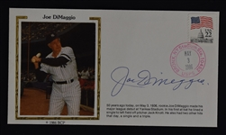 Joe DiMaggio Autographed First Day Cover
