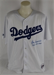 Don Newcombe Autographed & Inscribed Dodgers Jersey