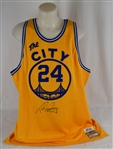 Rick Barry Autographed Golden State Mitchell & Ness Jersey