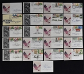 Hall of Fame Football Collection of 21 Autographed First Day Covers