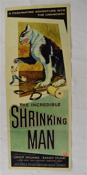 Vintage 1957 The Incredible Shrinking Man Movie Poster