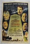 "Vintage 1963 ""The Comedy of Terrors"" Movie Poster"