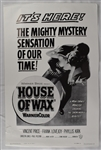 "Vintage 1953 ""House of Wax"" Movie Poster"
