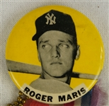 Roger Maris c. 1960s New York Yankees Vintage Pinback Button