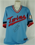 Kirby Puckett Autographed Minnesota Twins 1984 Rookie Throwback Jersey