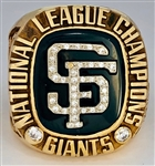 San Francisco Giants 2002 National League Championship 10k Gold Ring w/Original Box