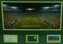 Green Bay Packers Matted & Framed Display w/Game Used Piece of Lambeau Field