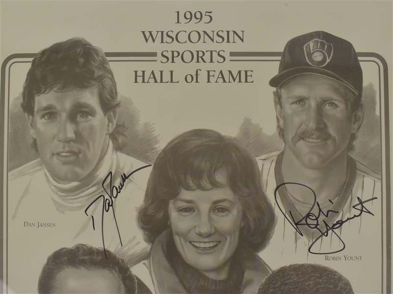 Wisconsin Legends 1995 Autographed Framed Lithograph