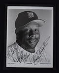 Kirby Puckett Autographed 1996 B/W 8x10 Photo