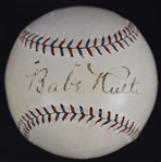 Babe Ruth 1927-28 Single Signed Baseball PSA/DNA LOA