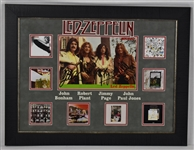 Led Zeppelin Group Signed Framed Display w/John Bonham *RARE* PSA/DNA