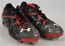 Eddie Rosario 2015 Minnesota Twins Game Used & Autographed Rookie Cleats