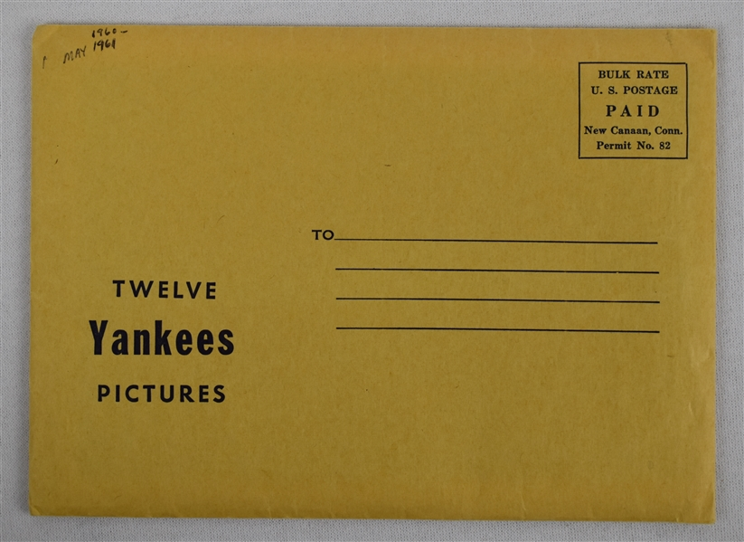 New York Yankees 1960's Set of 12 Jay Publishing 5x7 Picture Pack w/Envelope