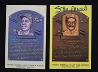 Stan Musial Autographed Hall of Fame Plaque Postcard