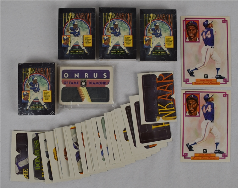 Hank Aaron Donruss Puzzle Collection