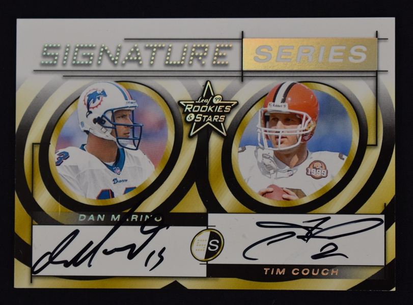 Dan Marino & Tim Couch 1999 Donruss Limited Edition Autographed Card #24/50.