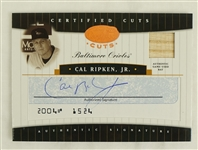 Cal Ripken Card Collection w/2004 Leaf Certified Cuts Game Used & Autographed Bat Card #19/25