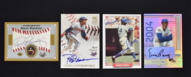 Collection of 4 Autographed Cards w/Ernie Banks