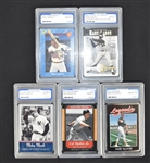 Lot of 5 PGS Graded Cards w/Mantle