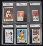 Lot of 6 GMA Graded Reprint Cards w/Mantle Rookie