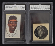 Hank Aaron 1958 & 1969 FGS Graded Cards/Stamps
