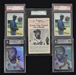 Hank Aaron Lot of 5 PSA BGS & SGC Graded Cards