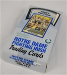 Notre Dame Trading Cards 1990 Unopened Box w/36 Packs