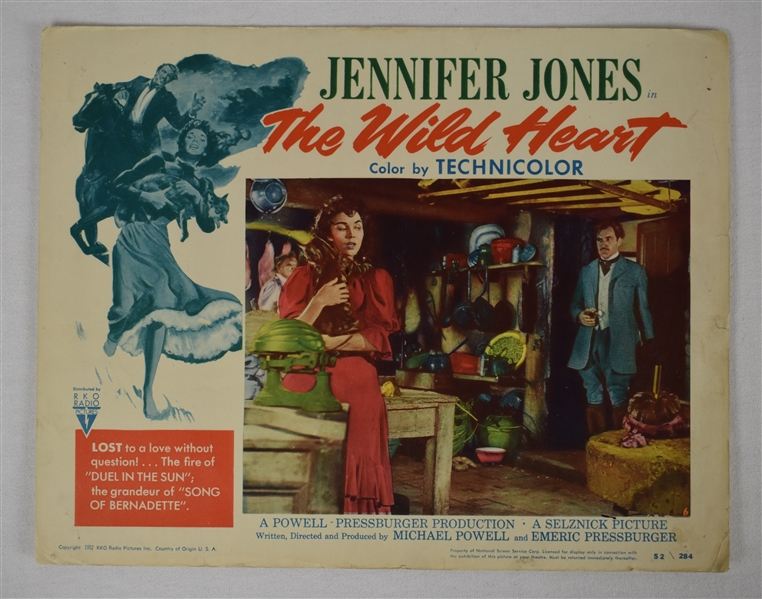 Vintage 1952 The Wild Heart Movie Poster