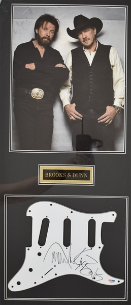 Brooks & Dunn Autographed Framed Guitar Display