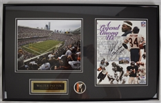 Walter Payton Autographed Display