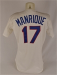 Fred Manrique 1989 Texas Rangers Game Used Jersey